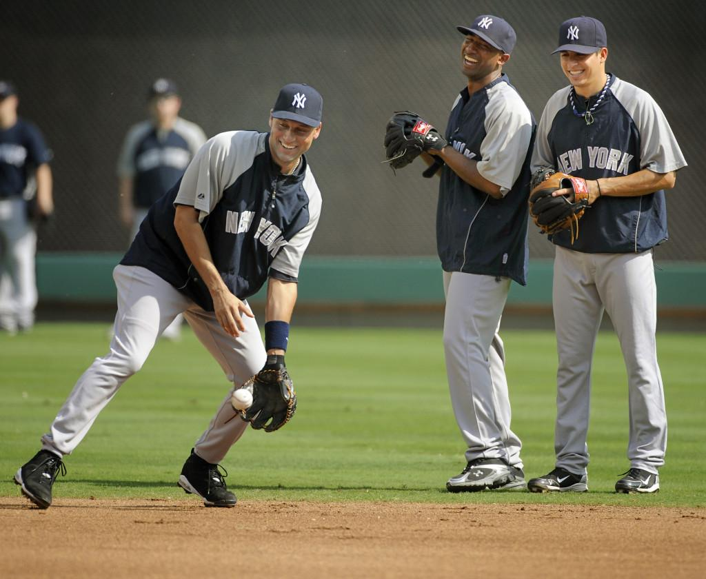 Yankees practice for Game 6 of ALCS