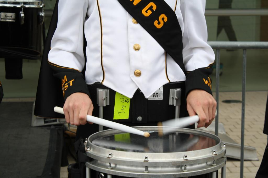 Drumline+Performs+At+Kauffman+Opening%3A+Photo+Gallery