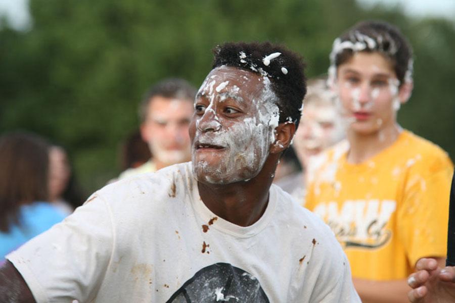 Shaving cream fight at Muck Fest