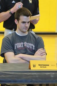 Nick Banman signed to play baseball at Fort Scott.