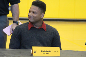 Mario Louis signed to play football at Fort Scott.