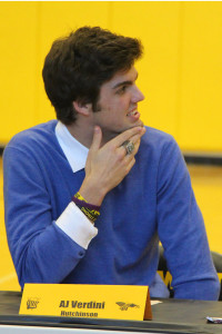 AJ Verdini signed to play football at Hutchinson.