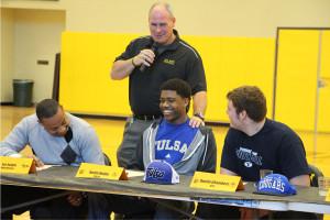 Justin Hobbs signed to play football at Tulsa.