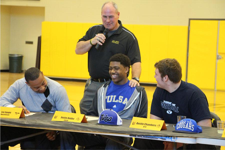 Justin Hobbs signed to play football at Tulsa.