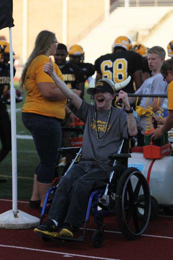 Superfan Chris Bowman was awarded the 12th Man before the opening game of the football season.