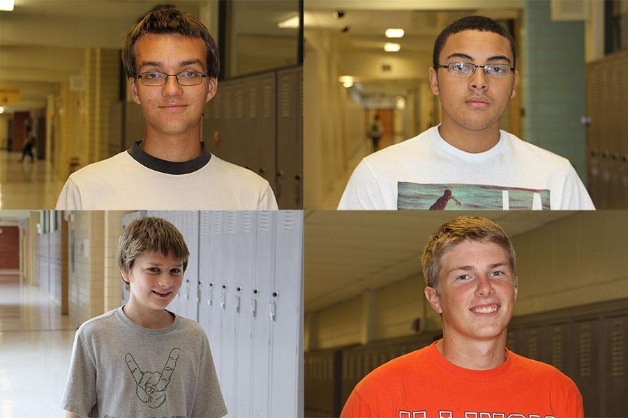 Top left: Jared Sandoy Top right: Nate Punzo Bottom left: Jesse Jones Bottom right: Logan Leodler