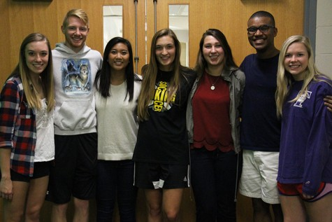 Pictured from left to right: Hanna La Londe, Reilly Wiscombe, Juliane Francia, Kelsey Eisenbarger, Hallie Fitzsimmons, Isaiah McKay, Kaylyn Olson