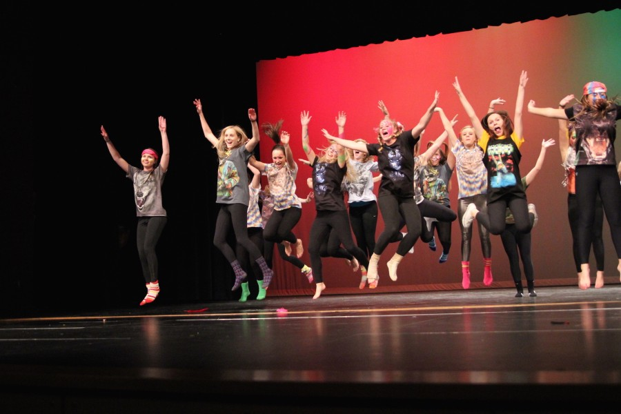 Senior Girls from Lip Sync 2014 perform their act. Photo by Maddie Loe