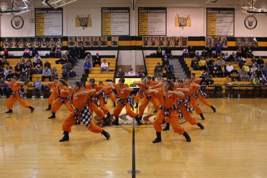 Dance team performs their routine. Photo by Mikaela Kelly-Price.